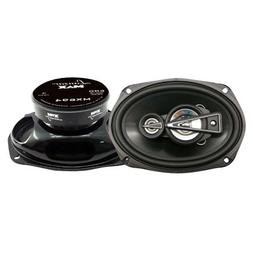 "Lanzar Upgraded Standard 6""x9"" 4 Way Pair of Quadaxial S"