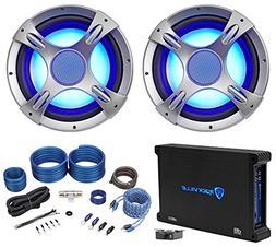 "NYC Acoustics NC12S4 3200 Watt 12"" LED Car Subwoofers+Mono"