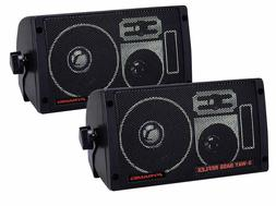 NEW  3-way Surface wall Mount Speaker Pair.Marine House boat
