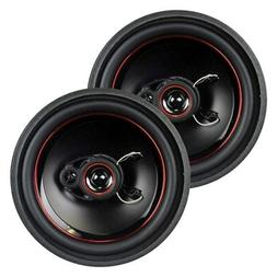 """NEW  6.5"""" 3way Car Audio Speakers.Stereo Pair.Replacement Se"""