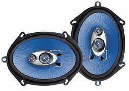 """New PYLE PL573BL 6X8"""" / 5x7"""" 300 Watts 3-Way 4 OHM Car Stere"""
