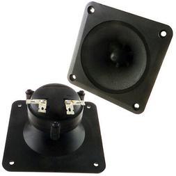 """Pair  3.5"""" inch Flush Mount  Horn Tweeters Speakers Car Box"""