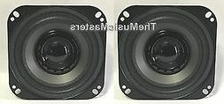 "Pair 4"" inch Dual Cone Car Stereo Audio SPEAKERS Factory OEM"