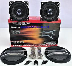 "Pair 4"" inch Quality Coaxial 2-Way Car Audio Stereo Radio Re"