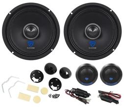 "Pair Rockville 6.5"" Component Car Speakers w/Kevlar Cones+Si"