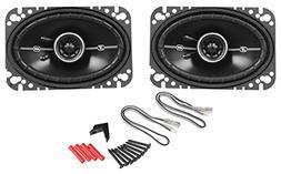 "Pair Kicker DSC46 4x6"" D-Series 2-Way Coaxial Car Speakers"