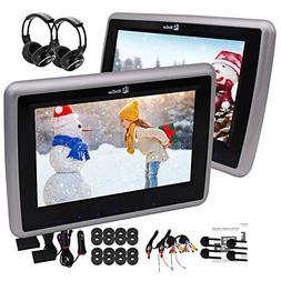 Pair of headphones included 10'' inch Dual Screens with 1024