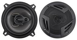 "Pair Rockville RV5.3A 5.25"" 3-Way Car Speakers 600 Watts/100"