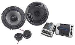 "Pair Rockville RV65.2C 6.5"" Component Car Speakers 750 Watts"