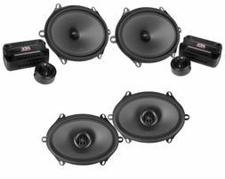 "Pair MTX THUNDER681 5x7""/6x8"" 360w Component Speakers+ 6x8"""