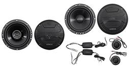 "Pair Hifonics ZS65C 6.5"" 400w Component Speakers+ 6.5"" 600w"