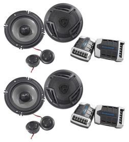 "Pairs Rockville RV65.2C 6.5"" Component Car Speakers 1500w/2"