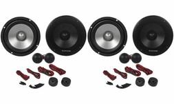 "Pairs Rockville RVL6KIT 6.5"" 1600 Watt Component Car Speake"