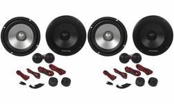 "Pairs Rockville RVL6KIT 6.5"" 1600 Watt Component Car Speake"