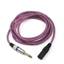 uxcell 10ft Pink 3-Pin XLR Male to 6.5mm TRS Male Microphone