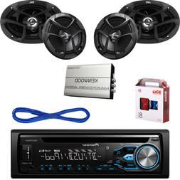 "Pioneer Bluetooth CD USB Radio,JVC 6x9""&6.5"" Car Speakers w/"