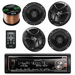 "Pioneer Car CD Bluetooth Stereo,JVC 6.5"" Coaxial 2Way Speake"
