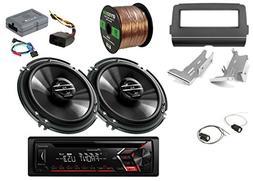 "Pioneer CD Single DIN AM/FM Car Stereo Receiver, 2x 6.5"" 2-W"