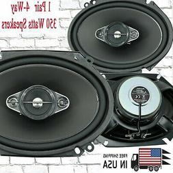 "PIONEER TS-A6880F 6"" x 8"" 4-WAY 350W CAR AUDIO COAXIAL SPEAK"