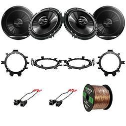 "4x Pioneer TSG1620F 6.5"" 2-Way Coaxial Car Speakers, 4x Metr"