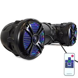 Pyle PLATV85BT 1000 Watt Marine Bluetooth Amplifed Waterproo