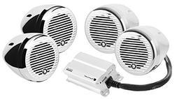 Planet Audio PMC4C Bluetooth, Weatherproof Speaker And Ampli