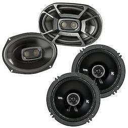 """Polk 6x9"""" 450W 3-Way Marine Speakers + Kicker 6.5"""" 240W 2-Wa"""