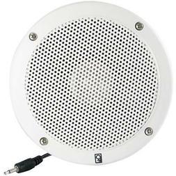 "Poly-Planar External Speaker, 6"" Round, White Car Electronic"