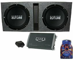"Hifonics 15"" Ported Car Package - 2) BRZ15D4 Subwoofers, Mon"