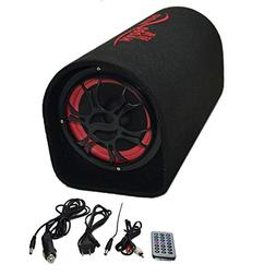 """High Power 6.5"""" Active Car Subwoofer Bass Tube TF USB MP3 In"""