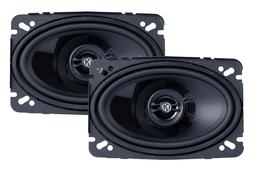 "Memphis Audio PRX46 4"" x 6"" 2-Way Coaxial Car Audio Speakers"