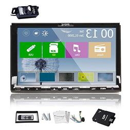Pupug 7-Inch Touch Screen Built-in Bluetooth Mic Car Stereo