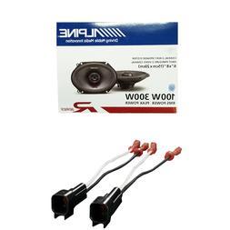Alpine R-Series 6 x 8 Inch 300 Watt 2-Way Car Speakers W/ Fo