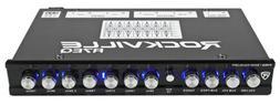 Rockville R7EQ 1/2 Din 7 Band Car Audio Equalizer EQ w/Front