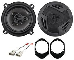 """Rockville 5.25"""" Rear Factory Speaker Replacement+Harness For"""