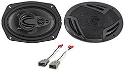 "Rear 6x9"" Rockville Factory Speaker Replacement Kit For 2003"