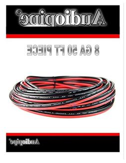 8 Gauge 50 Feet Speaker Woofer Red Black Wire Cable Car Home
