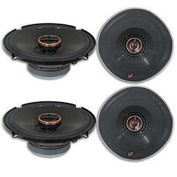 4 x Infinity REF-6522ex 6.5-inch 2-way Car Audio Shallow Mou