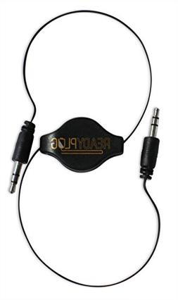 ReadyPlug Retractable 3.5mm Audio Cable for: Monoprice Deep