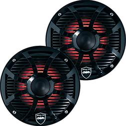 Wet Sounds REVO 6-SWB Black Closed SW Grille 6.5 Inch Marine