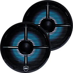 Wet Sounds REVO 8-XWB Black Closed XW Grille 8 Marine LED In