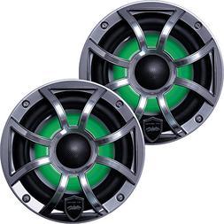 Wet Sounds Revo6 6.5-Inch 200W Gunmetal LED Full Range Marin