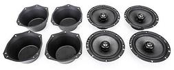 """Skar Audio RPX65 6.5"""" 200W 2 Way Coaxial Speakers  with Two"""