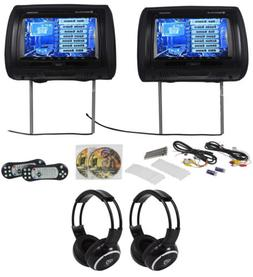 "Rockville RTSVD961-BK 9"" Black Touchscreen DVD/HDMI Headre"