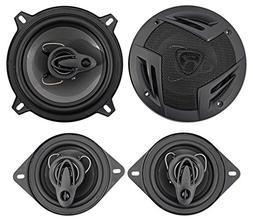 """Rockville RV5.3A 5.25"""" 600w 3-Way Car Speakers+ 3.5"""" 200w 3"""