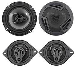 "Rockville RV6.3A 6.5"" 750w 3-Way Car Speakers+ 3.5"" 200w 3-"