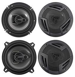 """Rockville RV6.3A 6.5"""" 750w 3-Way Car Speakers+ 5.25"""" 600w 3"""