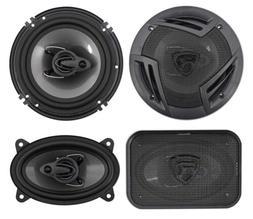 "Rockville RV6.3A 6.5"" 750w 3-Way Car Speakers+ 4x6 500w 3-W"