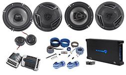 """Rockville RV65.2C 6.5"""" Component+Coaxial Car Speakers + 5-Ch"""