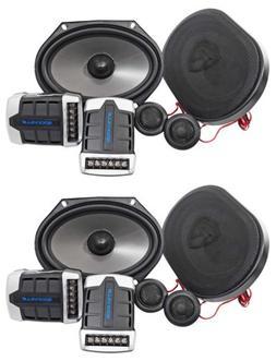2 Pairs Rockville RV68.2C 6x8/5x7 Component Car Speakers 180
